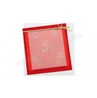 Vabilo - rdeče - zlati prstani