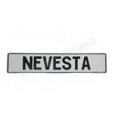 Tablica - NEVESTA/belo-črna
