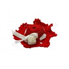 Poročni konfet - klobukec/rdečo-bel