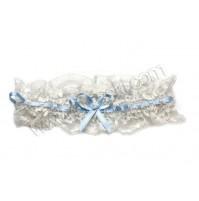 Poročna podvezica - belo/modra