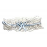 Poročna podvezica - belo/modra 02