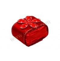 Konfet-kocka-čokoladica/rdeča-rožica