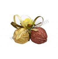 Konfet-zvonček-čokoladica/vrtnica-rumena