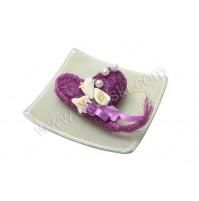 Konfet-steklen/lila srce-kala 2