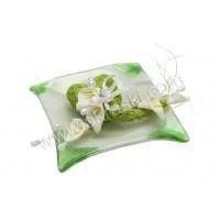 Konfet-steklen/zeleno srce-kala 2