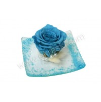Konfet-steklen/modra vrtnica-obdelana 1