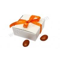 Konfet - škatlica - oranžna