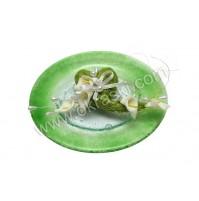 Konfet-steklen/zeleno srce-kala 1