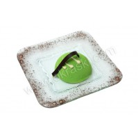 Konfet-steklen/tortica-zelena 1
