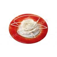 Konfet-steklen/bela vrtnica-obdelana 5