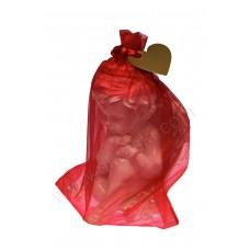 Poročni konfet - rdeč/srček za imena