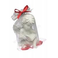 Poročni konfet - rdeč/angel s posvetilom