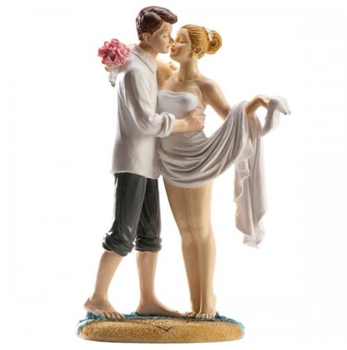 Poročna figura  - ženin in nevesta na plaži