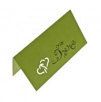Kartica za sedežni red - zelena/kaligrafija - izsek src