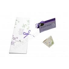 Poročni komplet  - viola/čokolada