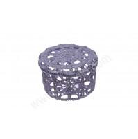 Poročni konfet - kvačkana škatlica/lila