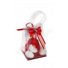 Poročni konfet - prozorna torbica