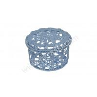 Poročni konfet - kvačkana škatlica/modra