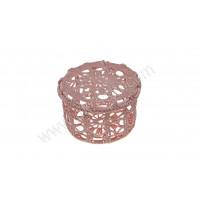 Poročni konfet- kvačkana škatlica/roza