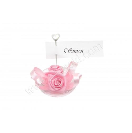 Poročni konfet - 2/1 - roza VRTNICA