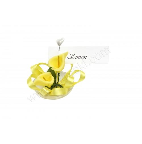 Poročni konfet - 2/1 - rumena KALA