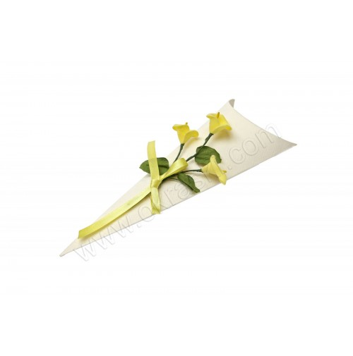 Poročni konfet - rumena kala