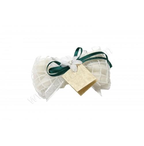Poročni konfet - mrežica/mašlček-zelen