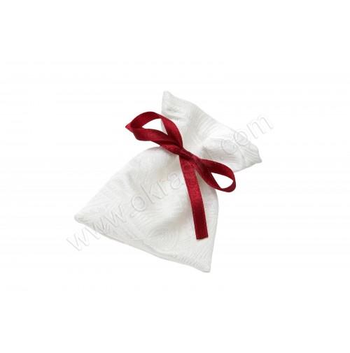 Poročni konfet - mošnjiček/bordo