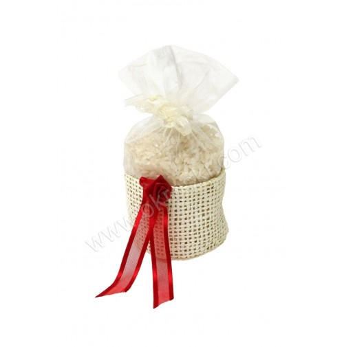 Poročni mošnjiček za riž - rdeč