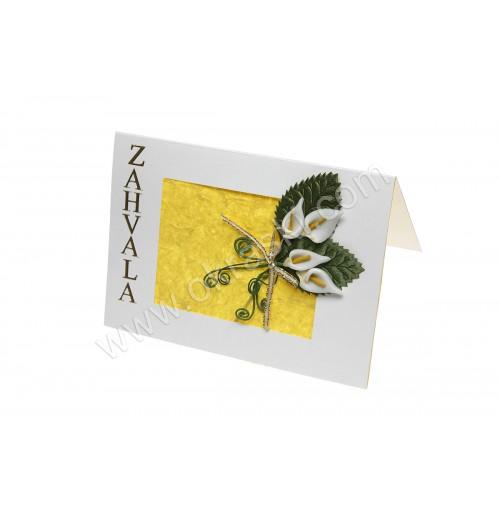 Poročna zahvala - rumena/kala 01