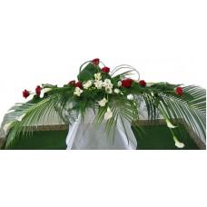 Poročni aranžma - belo/rdeč