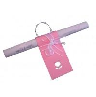Poročna menu karta - roza