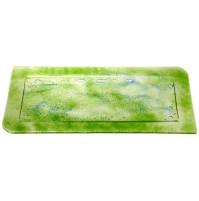 Stekleni pladenj - zelen
