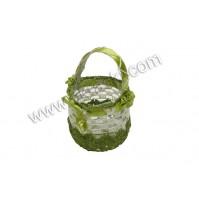 Poročni konfet - zelena/košarica-kvačkana