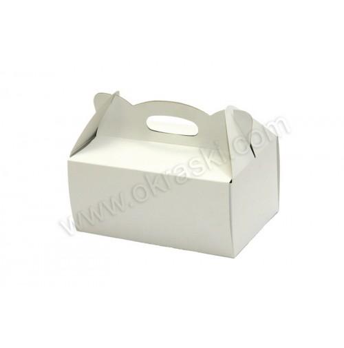 Poročna škatla za pecivo - bela - mala