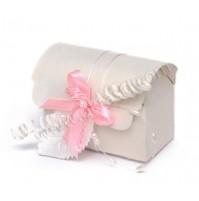Poročni konfet - skrinjica - roza