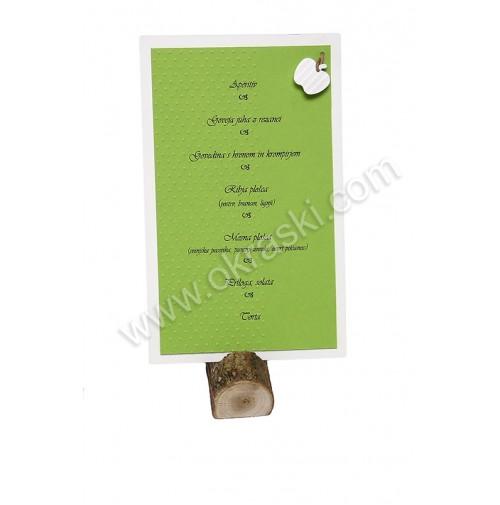 Menu karta - zeleno jabolko - Ester