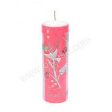Poročna sveča - roza/pink