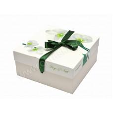 Poročna škatla za pecivo - orhideja