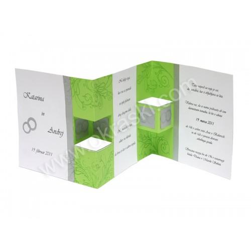 Vabilo - zeleno - modno