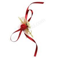Poročna zapestnica - bordo/vrtnica