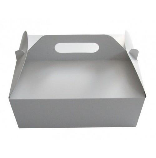 Poročna škatla za pecivo - bela - srednja