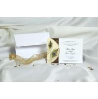 Vabilo - belo/pavje pero