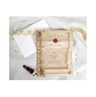 Vabilo - bež/diploma - pečat