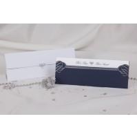 Vabilo - modro/srebrno - podolgovato