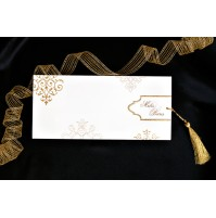 Vabilo - zlato/podolgovato - cofek