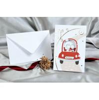 Vabilo - poročni avto