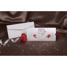 Vabilo - rdeče/puzle