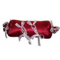 Poročna blazinica - bonbon/bordo-rdeča