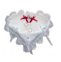Poročna blazinica - srce/bordo-rdeča